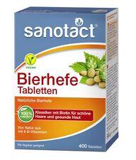 Sanotact Bierhefe Tabletten 400 vegane Tabletten für schöne Haare + gesunde Haut