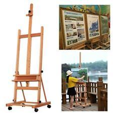 Adjustable 360 Artist Durable Wooden Easel Painters Studio Drawing W/Board Wheel