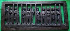 Old Vintage West African Edo Nigerian Benin Oba King Carved Hardwood Plaque B