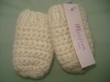 Monsoon Baby Mittens Wool/Angora Mix Oatmeal/Sparkle 0-12m Baby Gift BNWT
