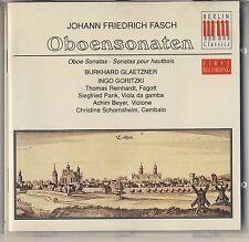 Fasch - Glaetzner, Goritzki: Oboensonaten (1993, Berlin Classics) Like New