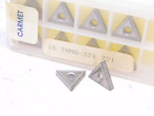 NEW SURPLUS 10PCS. CARMET  TNMG 321  GRADE: 721  CARBIDE INSERTS