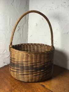 Handmade Brown Basket with handles