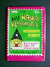 1967 FLEER *MY KOOKIE KLASSMATES* SEALED WAX PACK
