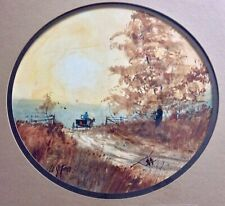 Original Watercolor Painting by Ed Gifford Country Scene Amish Americana