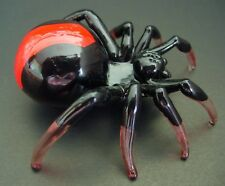 LARGE Glass SPIDER REDBACK SPIDER Poisonous Animal Glass Ornament Curio Display