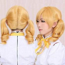 Puella Magi Madoka Magica Tomoe Mami Short Blonde Cosplay Party Wig Hair