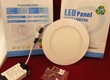 LED PANEL LIGHT CIRCULAR FLUSH MOUNT, 9w, 145mm 4000 lux NATURAL WHITE + PSU