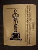 Vintage Glossy Press Photo Annual Academy Awards The Oscars Promo #2