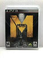 Metro: Last Light (Sony PlayStation 3, 2013) Clean & Tested Working - Free Ship