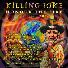 2022 KILLING JOKE HONOUR THE FIRE UK LIVE TOUR ADV PROMO 21CM SQUARE MINI POSTER