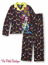 MONSTER HIGH FREAKY FUSION YOUTH KIDS GIRLS 2PC PANTS PAJAMAS PJS NWT S 6 / 6X
