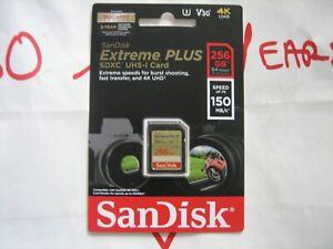 SanDisk 256GB SDXC UHS-I Extreme Plus 150MB/s Sealed