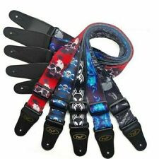 More details for pu leather ends quality cool guitar strap for acoustic electric bass