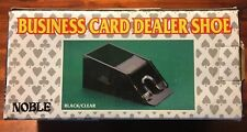 Noble Business Card Dealer Shoe Black/Clear