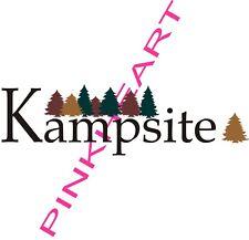 Komfort Kampsite Rv decal kit travel trailer graphics stickers camper USA cozy