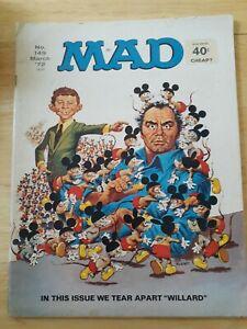 MAD Magazine March 1972 #149 Willard Movie Original Rats Ernest Borgnine Vietnam