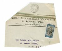 Madagascar 1919 Partial Cover to USA / Pasted to Album Page - Z275