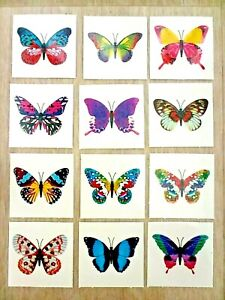 24 x BUTTERFLY Temporary Tattoos Kids Childrens Girls Party Loot Bag Fillers