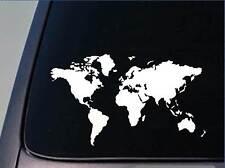 """Global World Map Atlas Vinyl Art Decal Sticker 7"""" x 12"""" *D744*"""