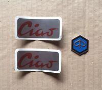 Adesivi serbatoio scritta rossa + scudo/fregio piaggio ciao prima serie C9 C7 A
