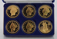 National Collector's Mint 24 Kt Gold Clad Bronze Set (6 Coins) - Awesome Set!