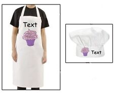 Personalised adult Chef's hat and Apron Set any picture/ design/ text ideal gift