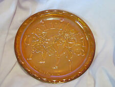 Spirit of 1776 Collector Plate Amber Colored Glass Plate 4th Of July Plate