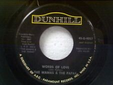 """MAMA'S & PAPA'S """"WORDS OF LOVE / DANCING IN THE STREET"""" 45"""
