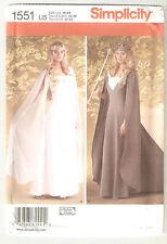 Simplicity Pattern 1551 Miss Medieval LOTR Elven Queen Fantasy Costumes Sz 16-24