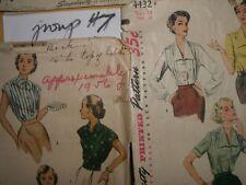 VINTAGE SEWING PATTERN 40's-Women SIMPLICITY 3 patterns  (#7)