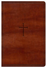 KJV Holy Bible Large Print Brown Leather Touch Cover BRAND NEW IN SHRINK WRAP!!