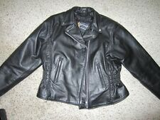 Xelement Advanced Motorcycle Gear Women's Fitted Leather Jacket Coat with Lining