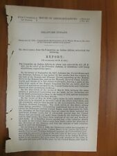 Government Report 2/25/1882 US Delaware Indians Pawnee Western Railroad Company