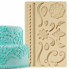 Lace Silicone Fondant Gum Paste Mold Cake Decoration Wilton