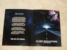 Original 1977 - Close Encounters of the Third Kind - Promo Booklet - Rare
