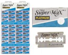 200 Super Max Double Edge Platinum Blades Barber Fits Gillette Schick Razor UK