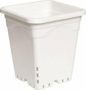 """Active Aqua 9"""" X 9"""" X 10"""" Tall White Square Pots Save With Bay Hydro Case of 24"""
