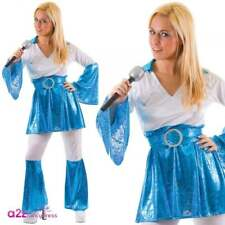 M Ladies Mamma Mia Costume for ABBA 70s 80s Fancy Dress