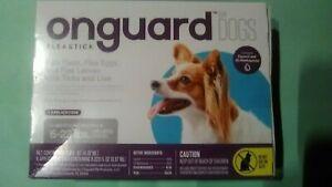 Onguard~6 Flea Ticks Lice~Small Dog & Puppy Treatment~Fipronil~6-22lbs~NIB~8+wks