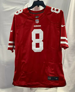 Nike Mens San Francisco 49ers Steve Young Football Player Red Jersey Size Large