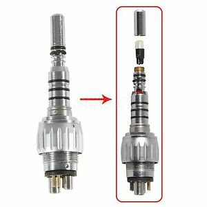 Dental 6 Hole Pin Quick Coupler for KAVO Fiber Optic Handpiece LED Turbine