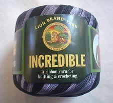 Lion Brand INCREDIBLE Yarn Accent On Black 204 FUN Vintage Ribbon 50 Grams