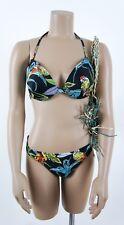 H&m * bikini-set * paraíso exotic * loros * negro multicolor * GR 80b + GR 42