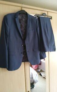 NEXT tailored slim fit blue suit 44S/34R