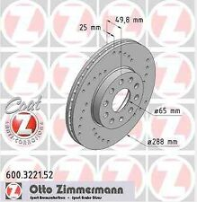 Disque de frein avant ZIMMERMANN PERCE 600.3221.52 SKODA SUPERB Break 3T5 3.6 V6