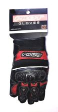 Pilot Super Mesh Motorcycle Glove with Carbon Fiber Knuckles, Red, Large
