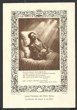 Lamina antique de Santa Teresita estampa santino image pieuse