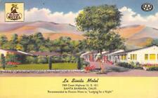 LA SIESTA MOTEL Santa Barbara, CA Highway 101 Roadside ca 1940s Linen Postcard