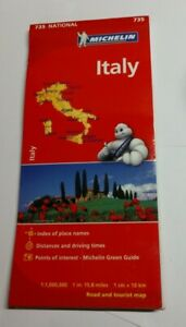 NEW Map of Italy, by Michelin Map #735